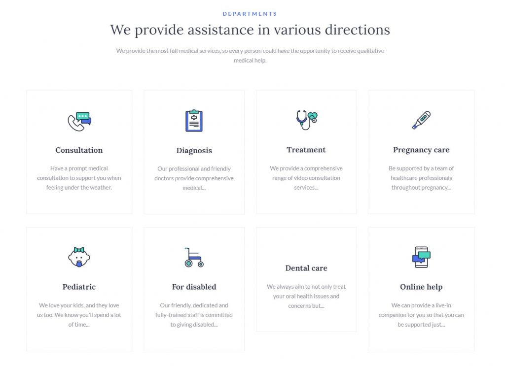 Service Page Section Example