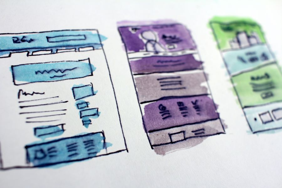 Service Page wireframes